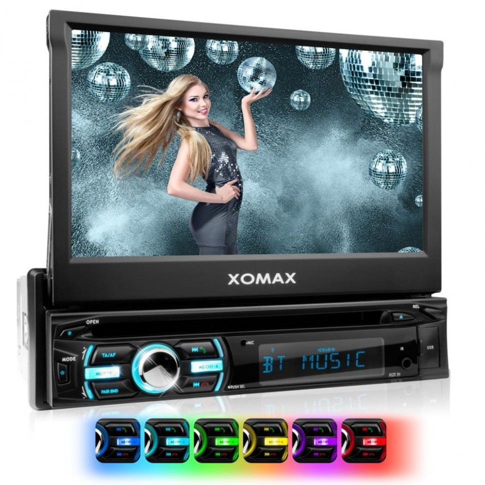 xomax xm dtsb925 car radio 7 dvd usb sd bluetooth. Black Bedroom Furniture Sets. Home Design Ideas