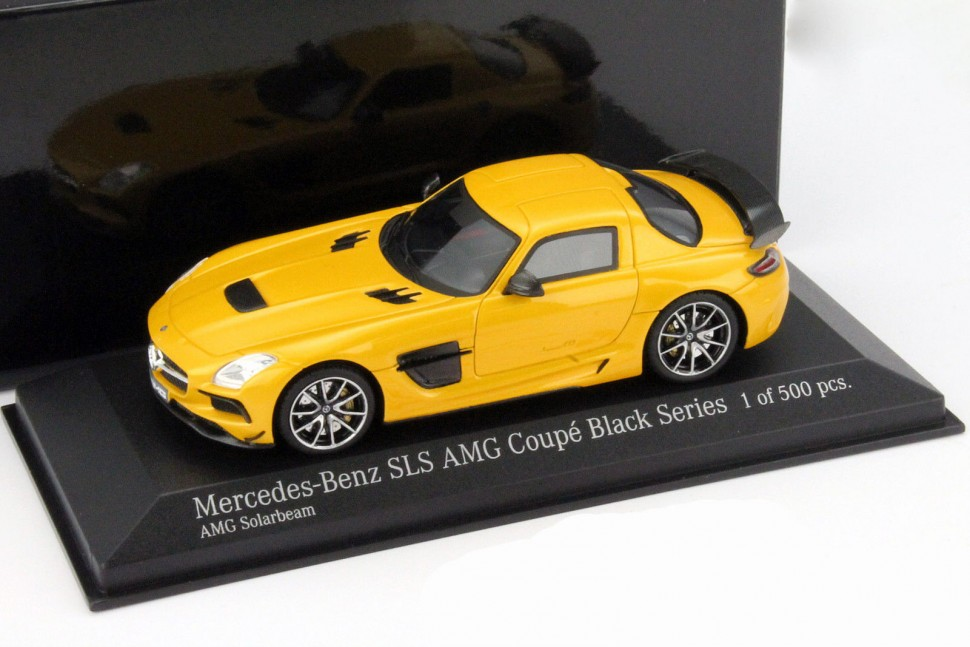 "minichamps mercedes sls amg coupe black series ""13 yellow model"
