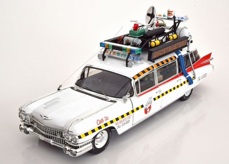 hot wheels elite cadillac ecto 1a ghostbusters 2 model car. Black Bedroom Furniture Sets. Home Design Ideas