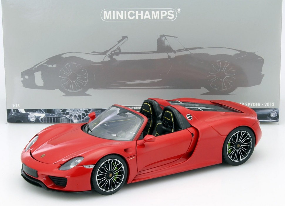 minichamps porsche 918 spyder red limited ed model car 1. Black Bedroom Furniture Sets. Home Design Ideas