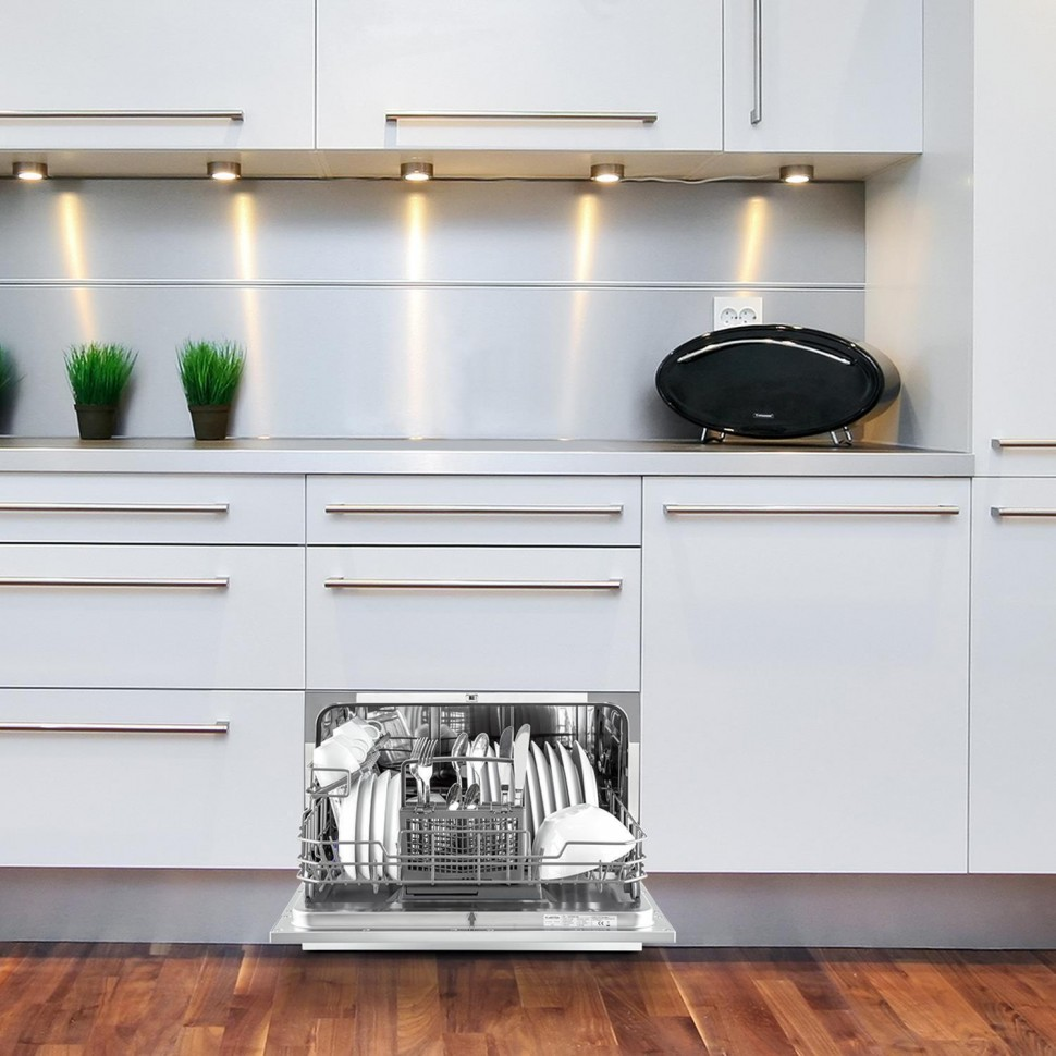 ... Amazonia 6 Table Top Dishwasher Built In A+ 1380W Silver Genuine NEW