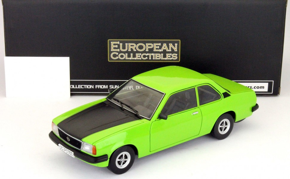 sun star models opel ascona b sr year 1975 signal green model car 1 18 genuine ebay. Black Bedroom Furniture Sets. Home Design Ideas