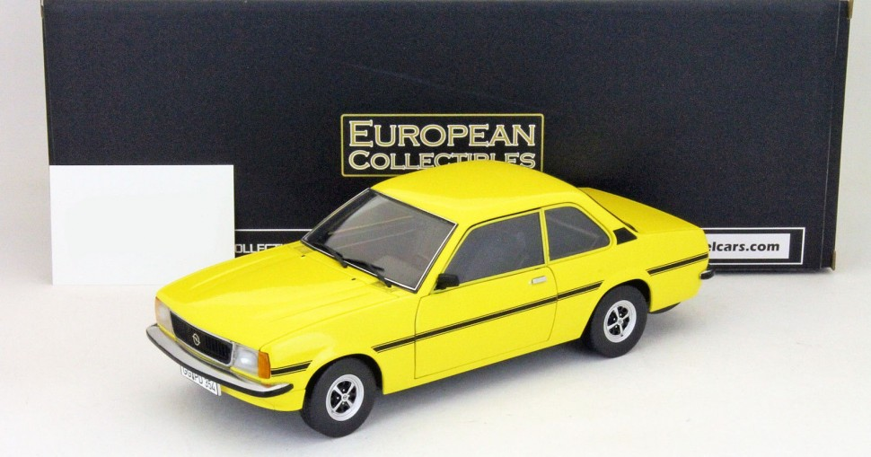 sun star models opel ascona b sr 1975 signal yellow model car 1 18 genuine new. Black Bedroom Furniture Sets. Home Design Ideas