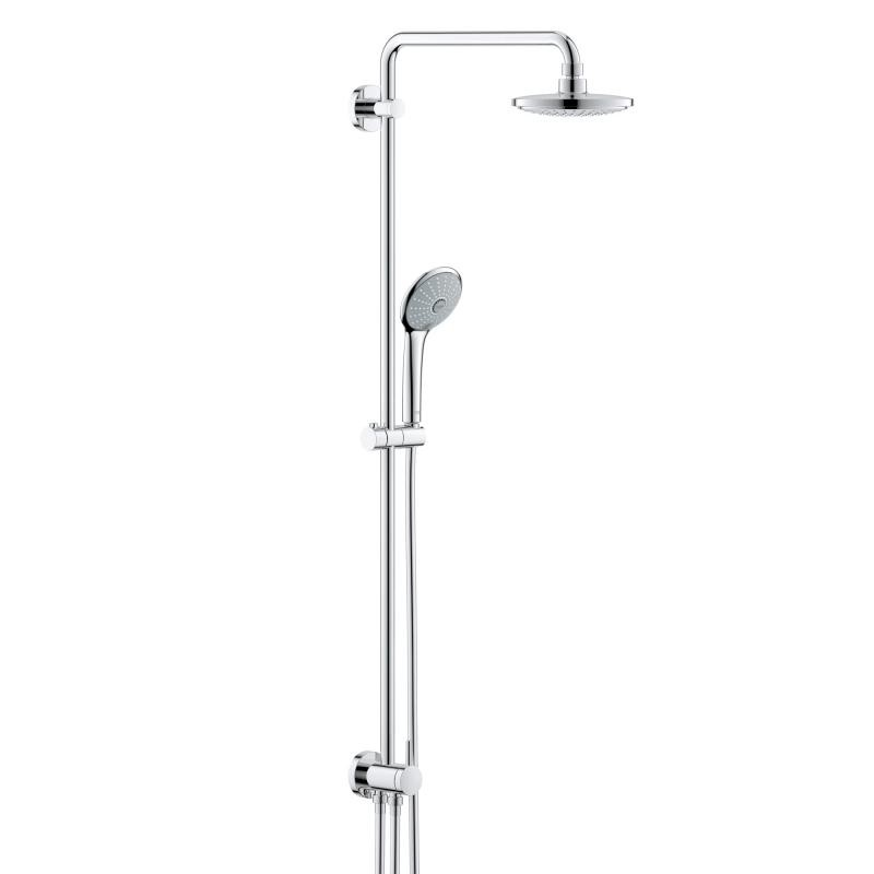 grohe 27421001 euphoria wall mounted shower system with. Black Bedroom Furniture Sets. Home Design Ideas