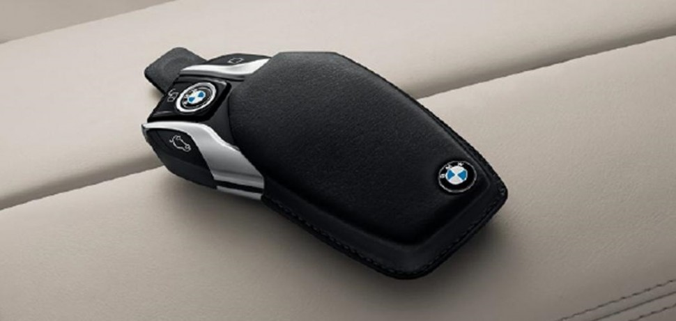 Original BMW Display Key Case For The New 7 Series Custom Fit Black Nappa Leather Provides Reliable Protection Against