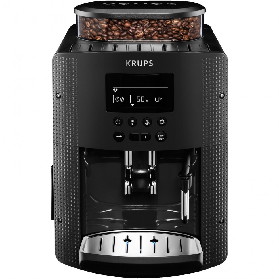 krups ea815b fully automatic espresso coffee machine black 1450w 2 cups genuine ebay. Black Bedroom Furniture Sets. Home Design Ideas