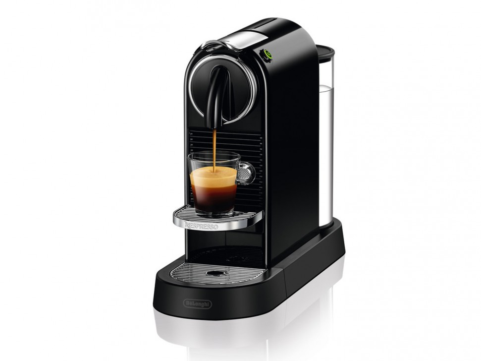 delonghi citiz en167 b nespresso capsule coffee machine black 1260w genuine new ebay. Black Bedroom Furniture Sets. Home Design Ideas