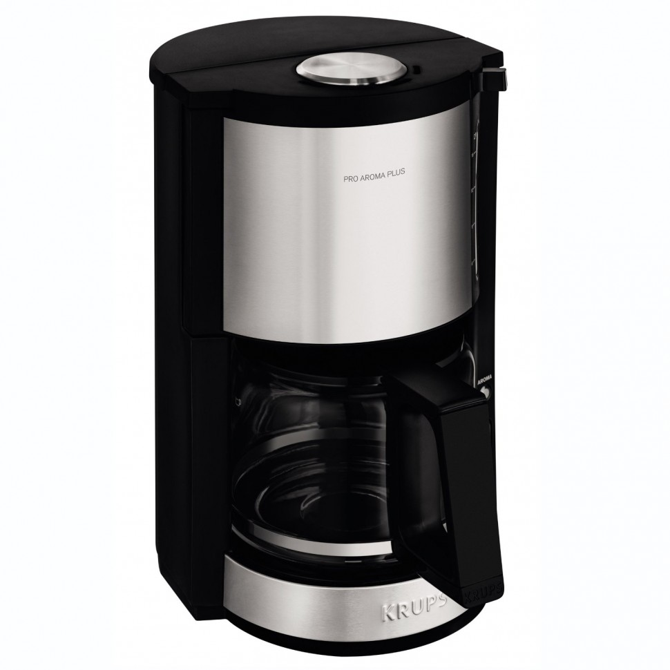 krups pro aroma plus km321 filter coffee machine black 10 cups 1050w genuine new ebay. Black Bedroom Furniture Sets. Home Design Ideas