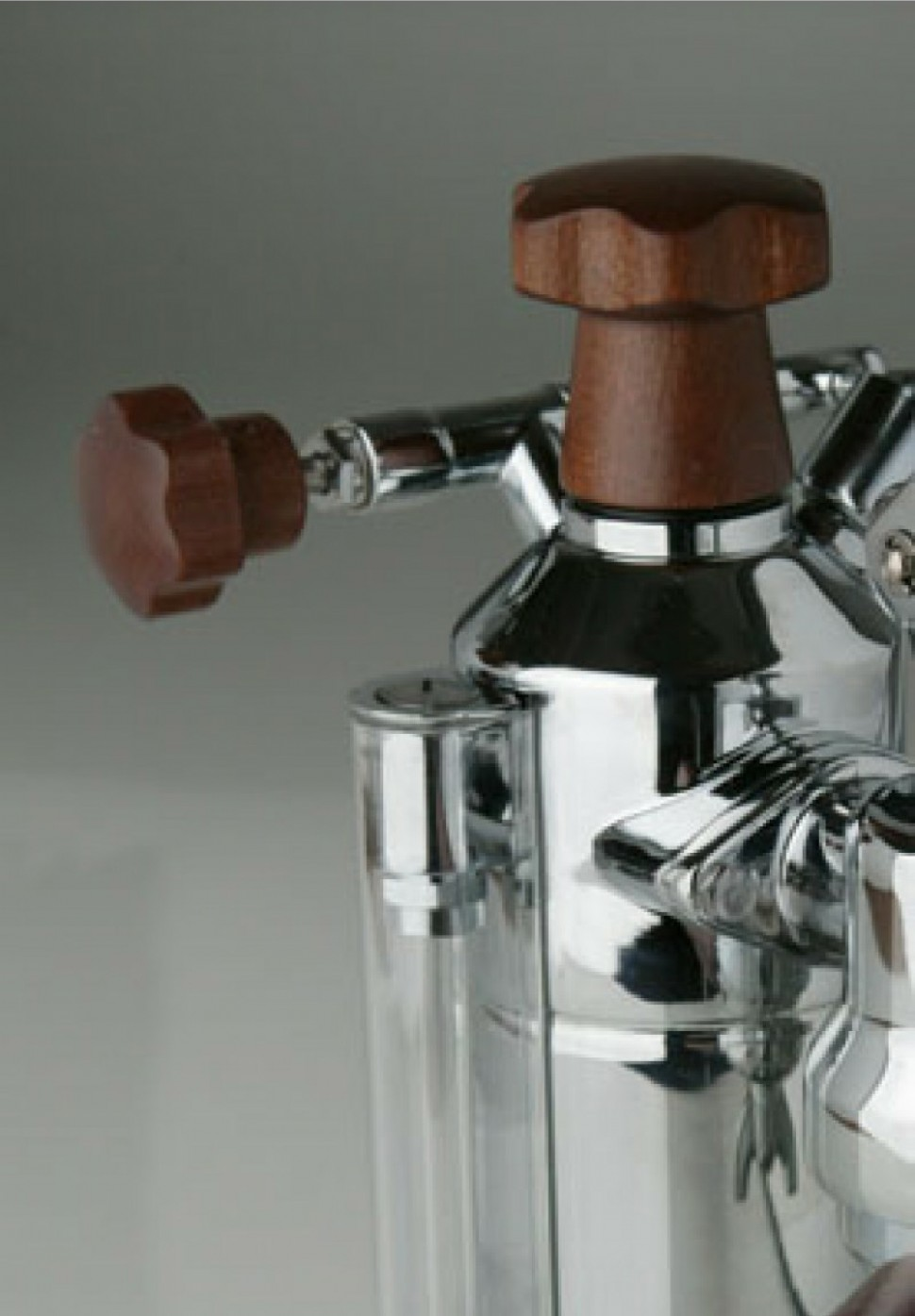 la pavoni europiccola elh lever espresso machine silver wood elements genuine ebay. Black Bedroom Furniture Sets. Home Design Ideas