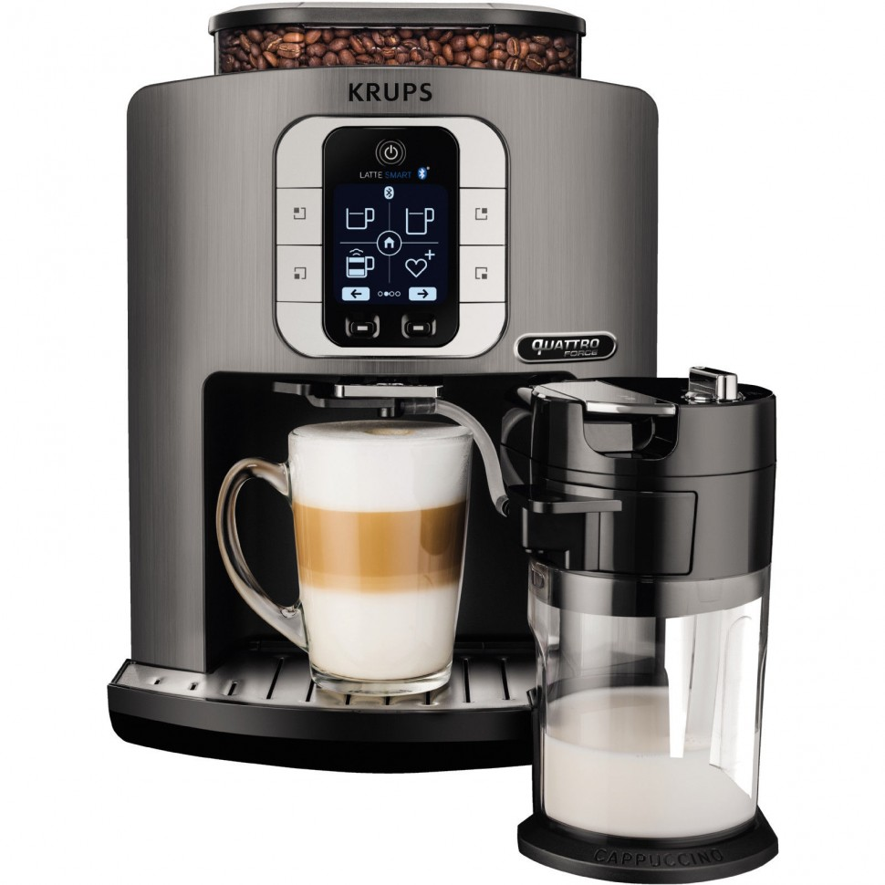 krups ea860e latte smart automatic espresso coffee machine bluetooth genuine new ebay. Black Bedroom Furniture Sets. Home Design Ideas