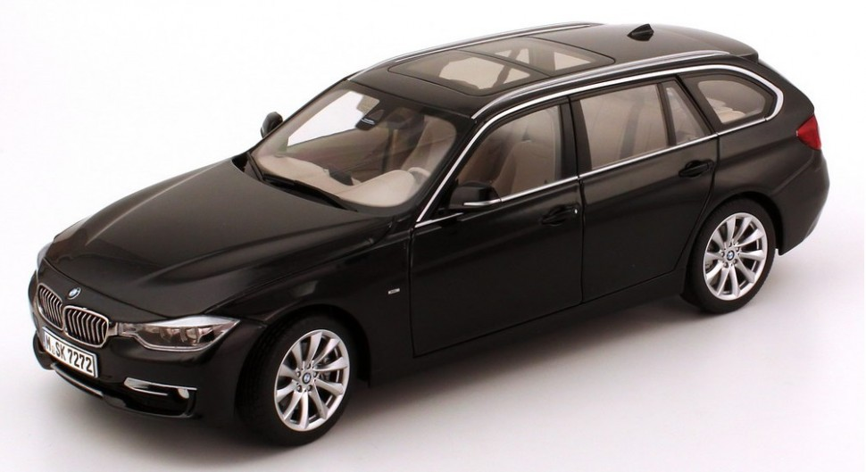 bmw 3 series touring f31 sapphire black model car 1 18. Black Bedroom Furniture Sets. Home Design Ideas