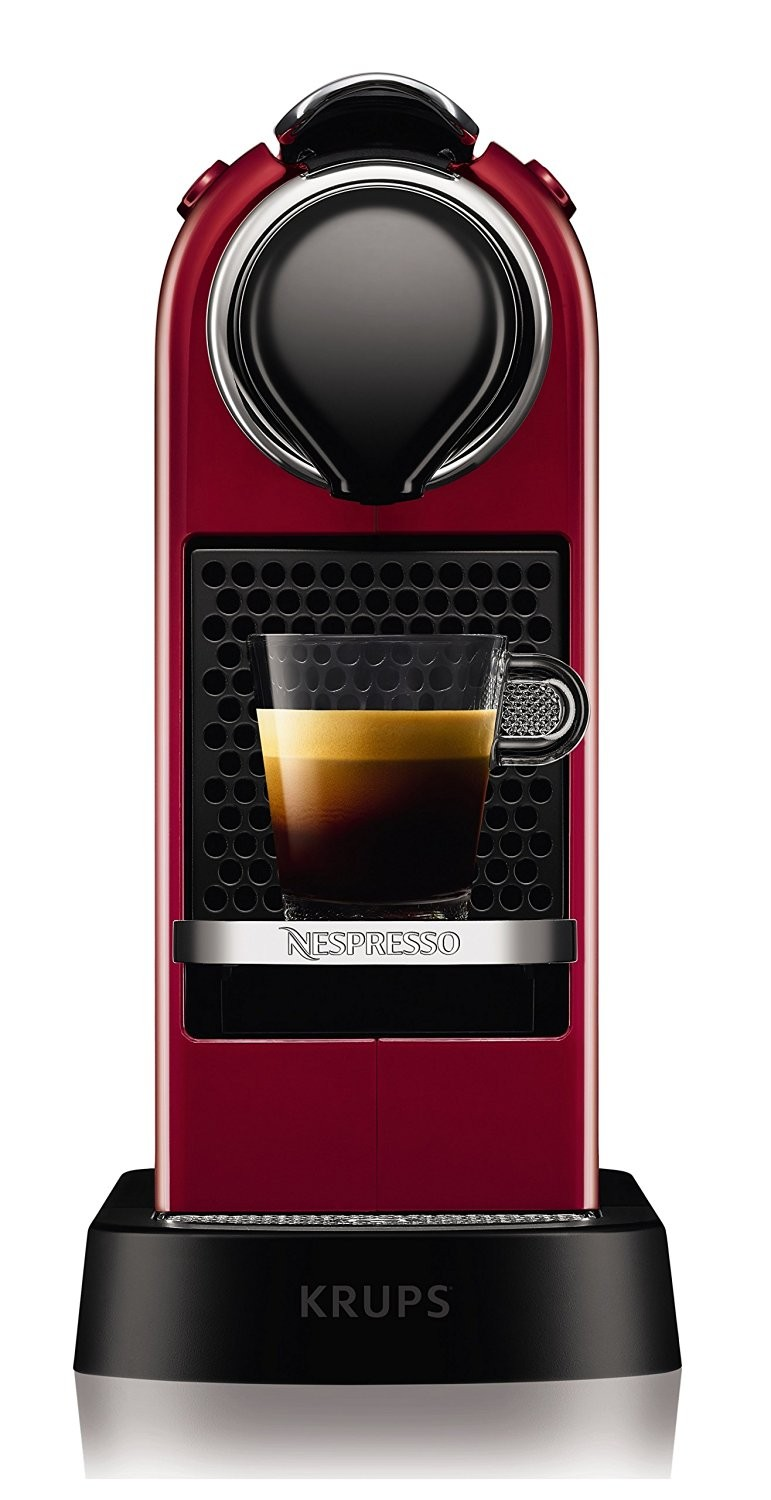 krups xn7405 nespresso citiz capsule coffee machine cherry. Black Bedroom Furniture Sets. Home Design Ideas