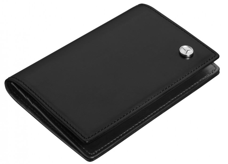 Mercedes benz black leather business credit card holder for Mercedes benz business cards