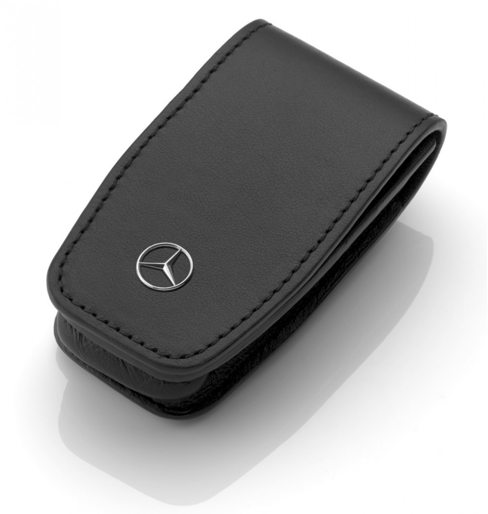 Mercedes benz 2017 collection key case gen 6 black leather for Key mercedes benz