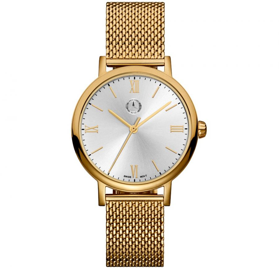 Mercedes benz swiss movt gold ladies roman classic wrist for Mercedes benz watches ebay