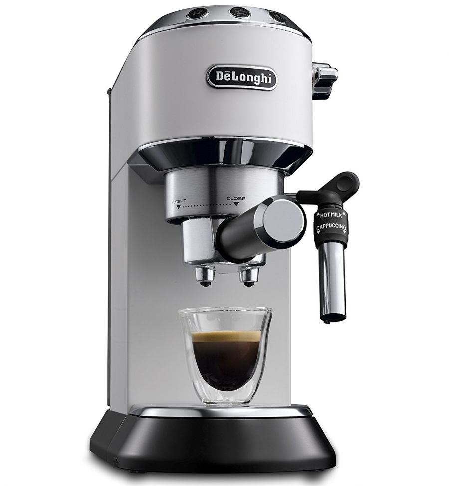 flexible u0026 practical with the combination of milk frothing nozzle and height adjustable cup support surface cappuccino latte macchiato and - Delonghi Espresso Machine