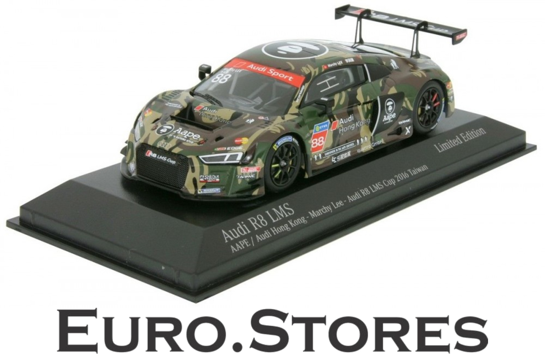Minichamps audi r8 lms - cup taiwan 2016 marchy lee   88 modell auto 1 43 neue